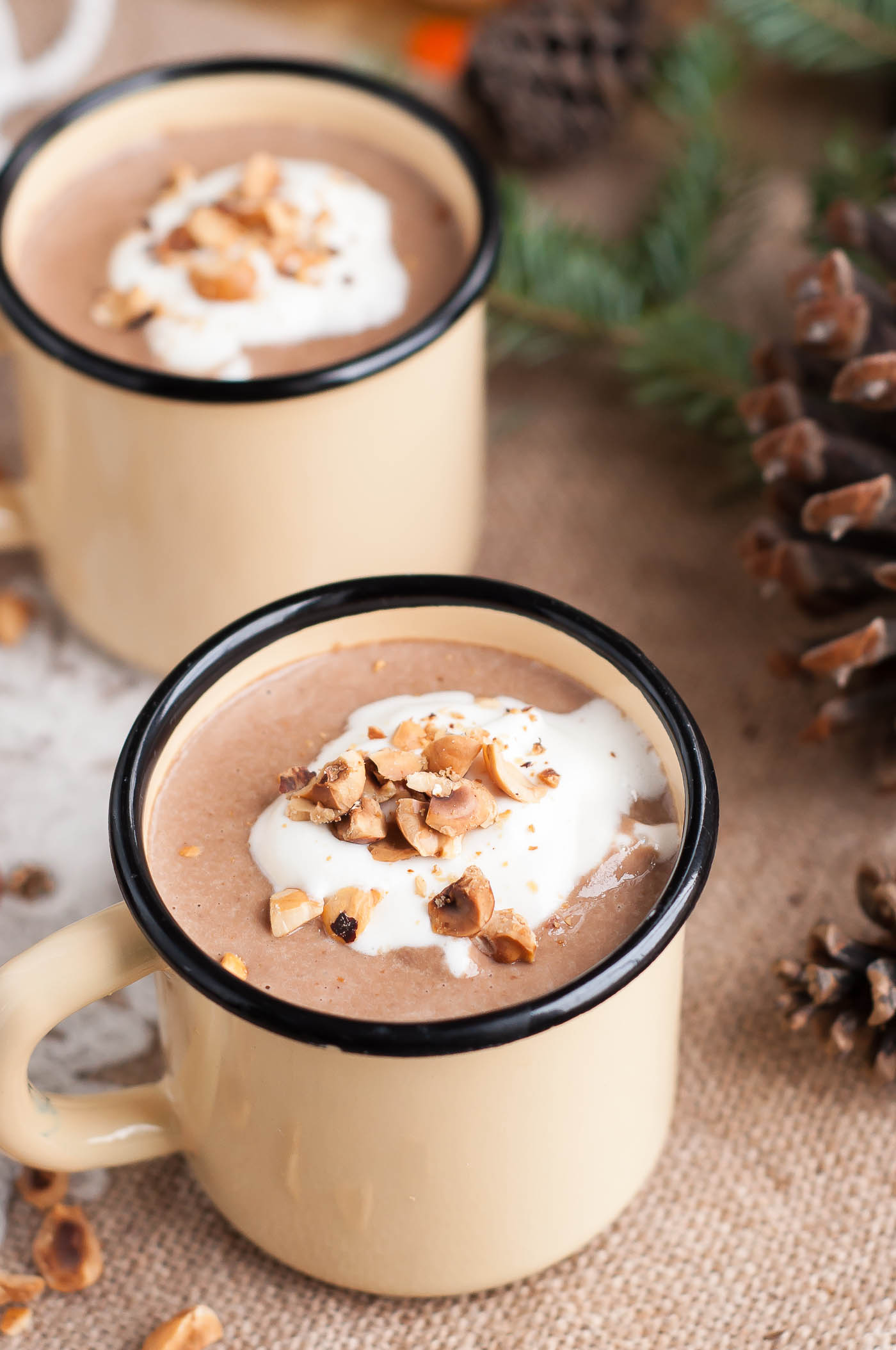 Homemade Nutella Eggnog - GastroSenses