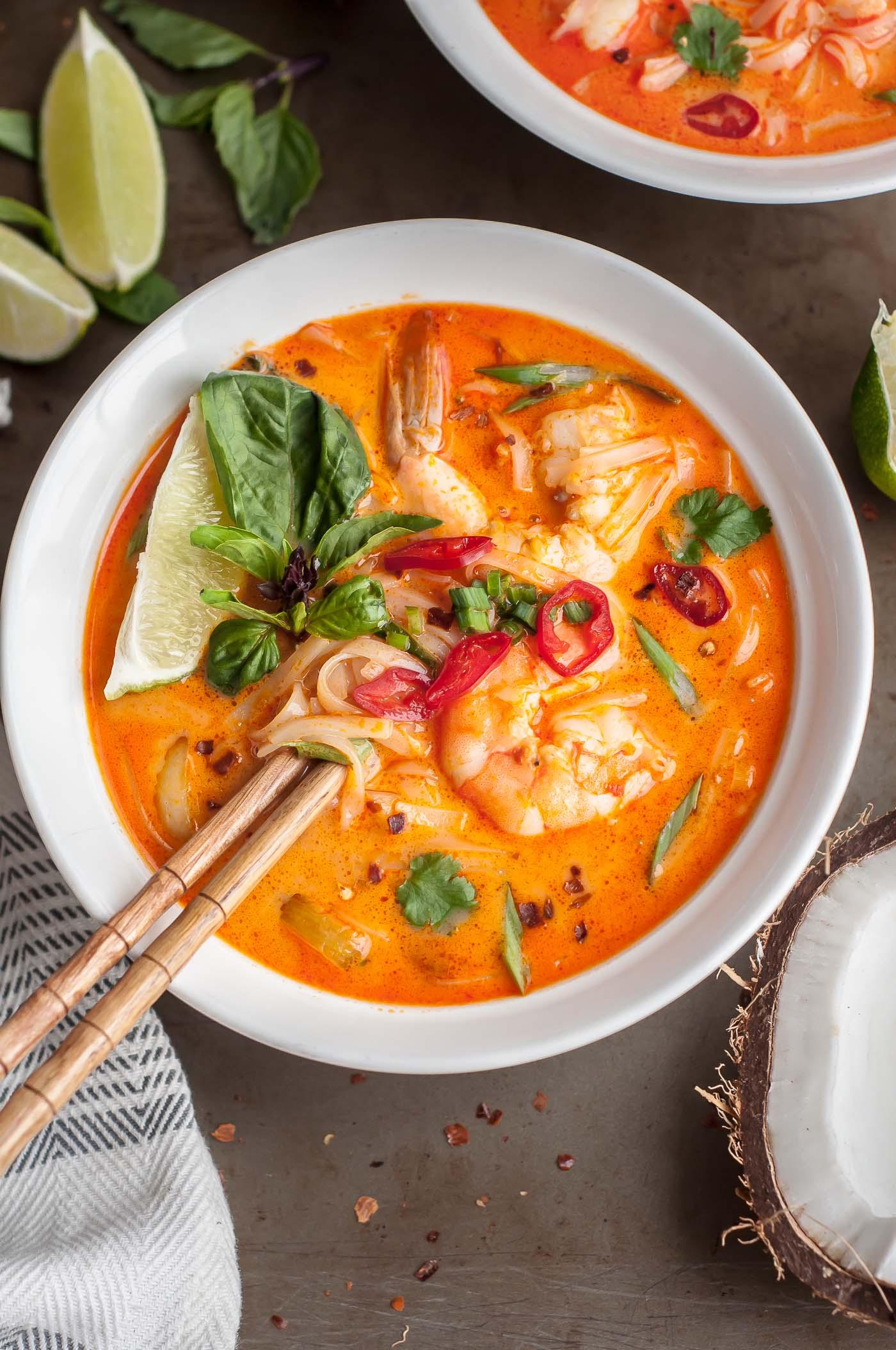 Thai Shrimp Noodle Soup - GastroSenses