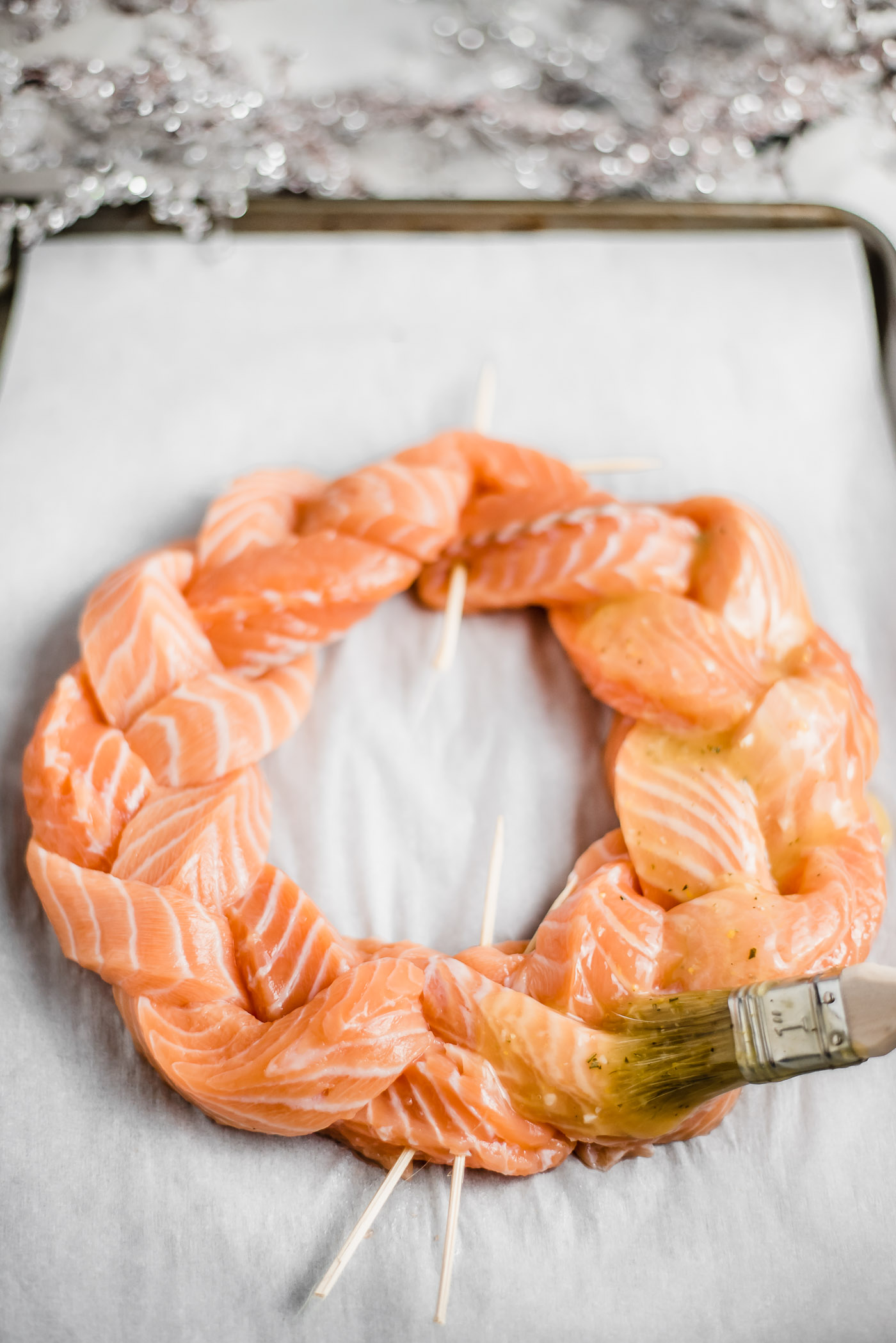 Rosemary Citrus Salmon Plait