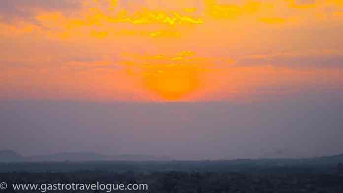HAMPI INDIA SUNSET