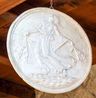 Herculaneum disk to ward off evil
