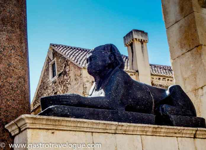 Sphinx at Diocletian Palace Split