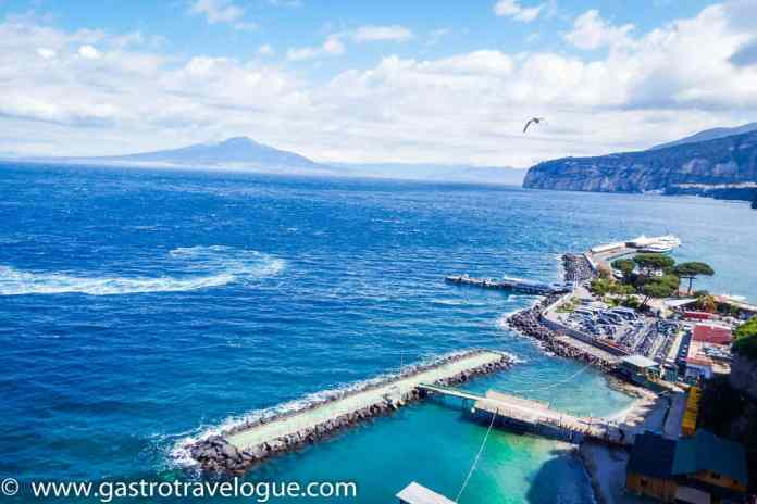 View of Vesuvius from Sorrento Italy