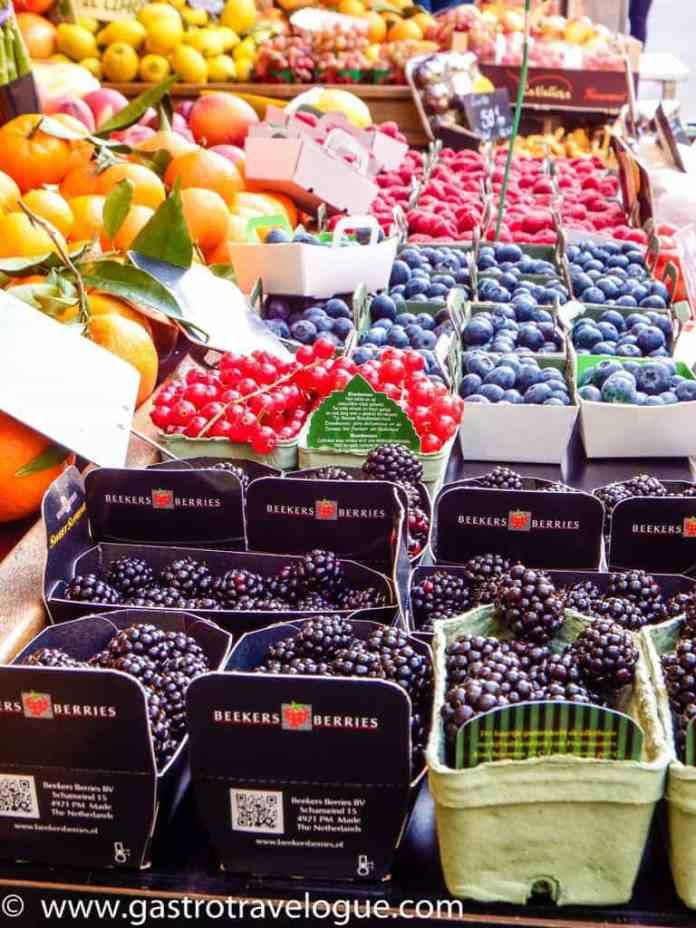 Market produce Rue Montorgueil