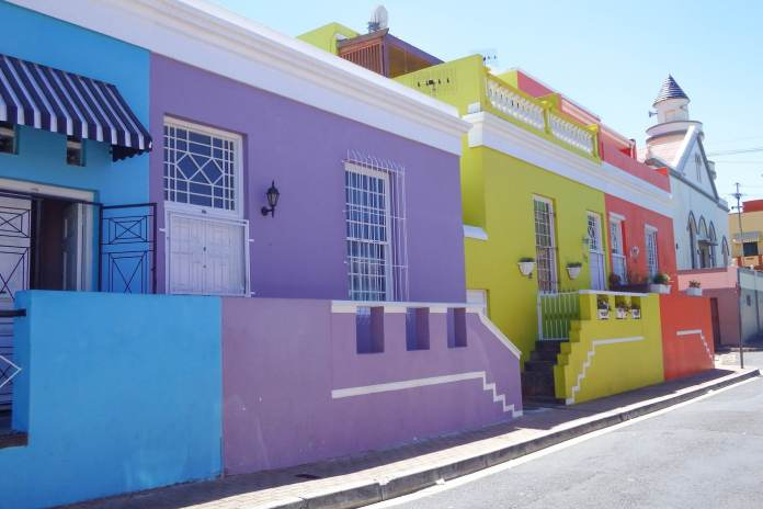 Colourful street in the Bo-Kaap
