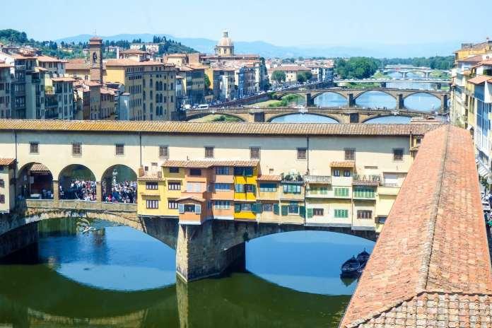 Ponte Vecchio view from the Uffizi