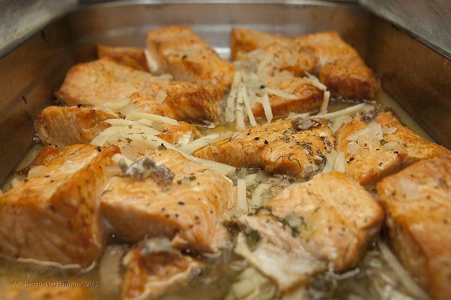 Финское блюдо — жареный лосось