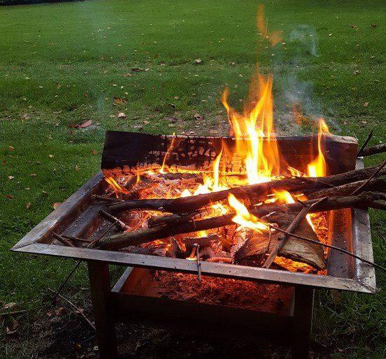 vuurplaats bij Lenthe Lodge