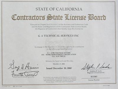 electrical, GA Technical Services, Inc Rancho Cucamonga