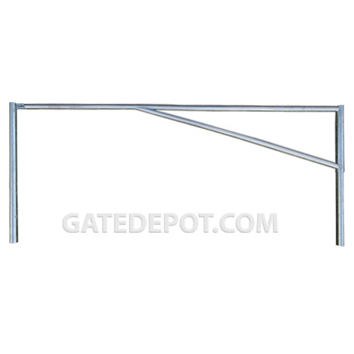 DuraGate DGT-BR Steel Barrier Gate Round Tubular 10-1/2
