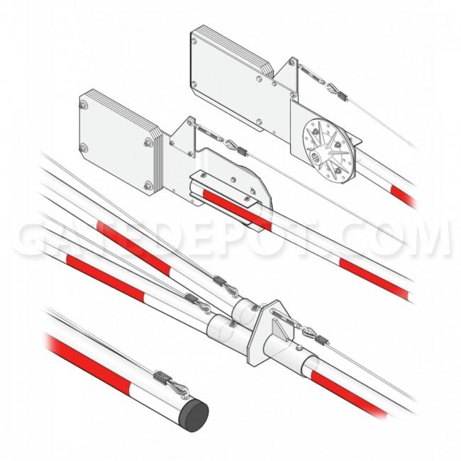 DoorKing 1602-176 MUTCD Compliant 3-Piece Aluminum Arm w