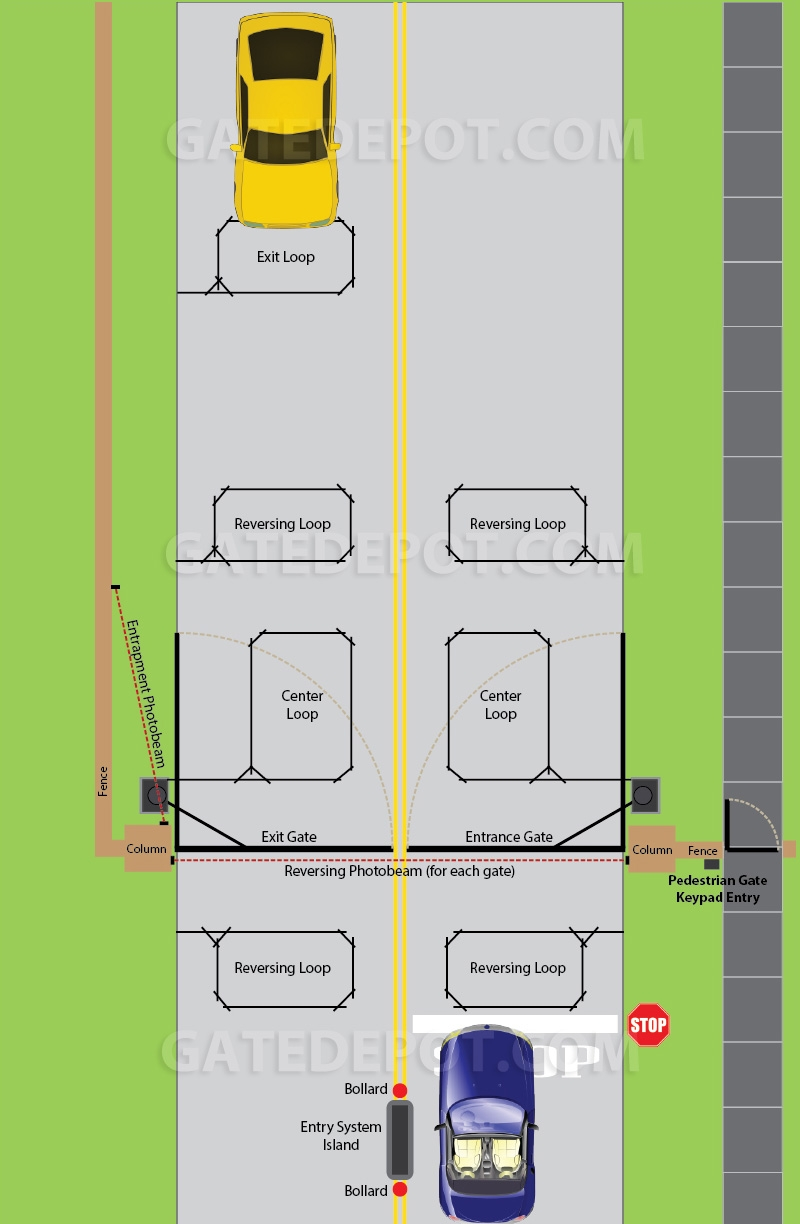 hight resolution of site layout diagram community bi parting swing gate