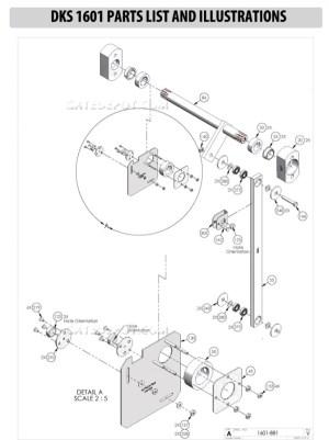 Replacement Parts Diagram  DoorKing 1601 Parts Diagram
