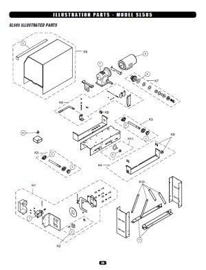 Replacement Parts Diagram  Liftmaster SL585 Parts Diagram