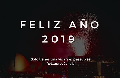 Felicitacion de año nuevo 2019