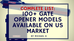 Gate opener list