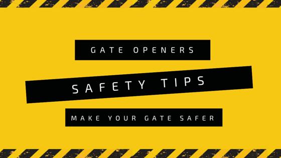 Gate opener safety tips – Make your driveway safer