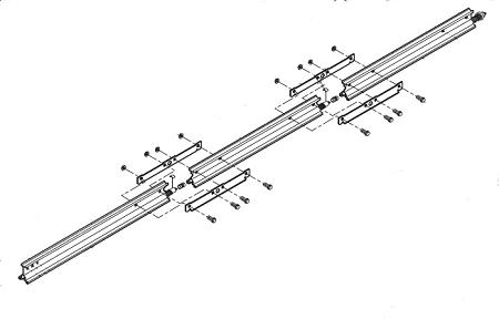 Genie 32658R.S RAIL & SCREW (COMPLETE 3pc. ASSEMBLY)