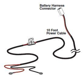 Mighty Mule FM350 Parts R4059 Battery Power Cable Harness