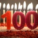 100 Jahre Torte Kerzen Geburtstag