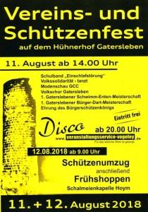 Vereinsfest Schützenfest Sommerfest der Vereine 2018 Plakat Flyer