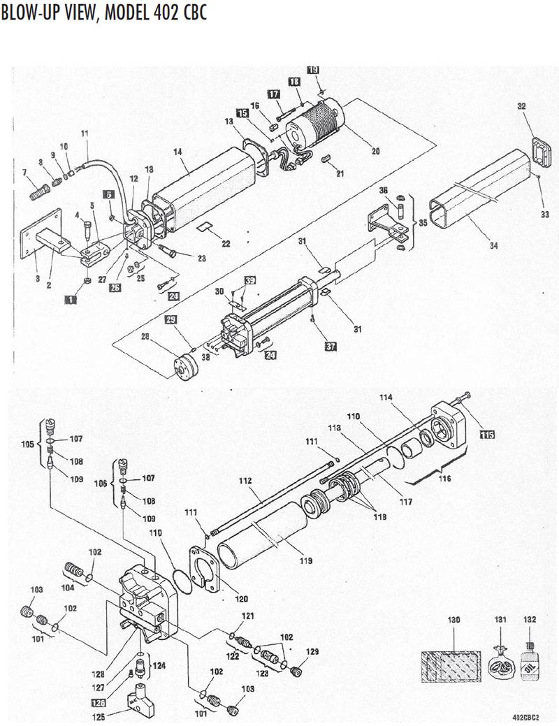 FAAC Gate Operators Repair Parts-FAAC 402 Swing Operators