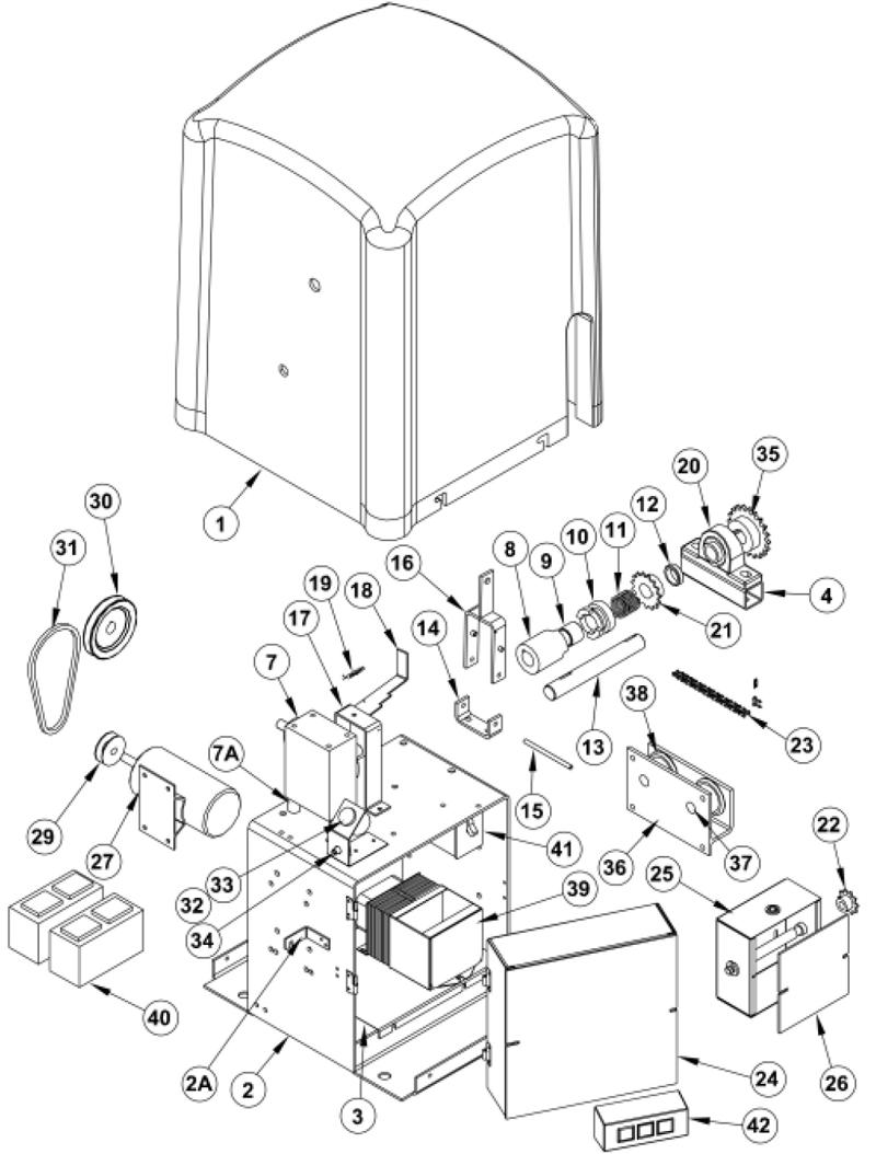 OSCO Gate Operators Repair Parts-OSCO SLD Slide Operators