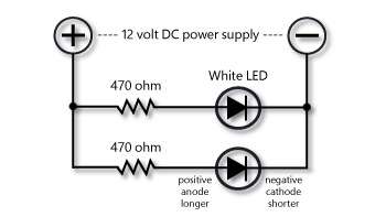 led christmas light string wiring diagram 2006 mitsubishi eclipse car radio inexpensive white leds from sets gateway nmra a single