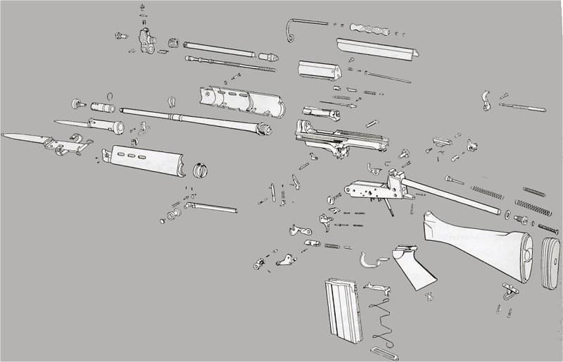 FN Herstal FAL Rifle Stocks Barrels Trigger Parts and