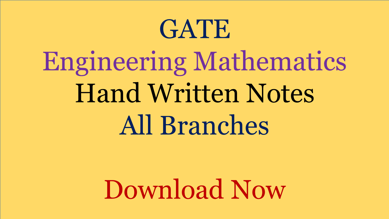 Pdf gate engineering mathematics hand written notes for all gate engineering mathematics hand written notes fandeluxe Images