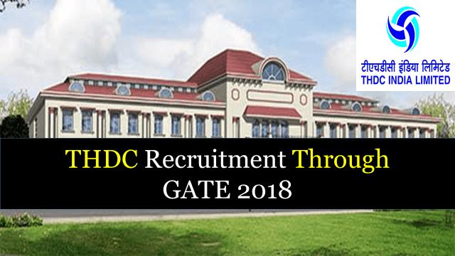 THDC Recruitment Through GATE 2019