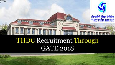 Photo of THDC Recruitment Through GATE 2020