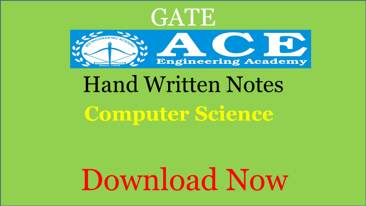 PDF] ACE Academy Class Notes Computer Science Download Now