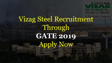 Photo of Vizag Steel Recruitment Through GATE 2020