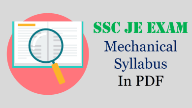 Photo of SSC JE Mechanical Syllabus 2020-21