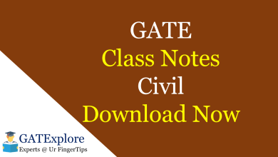 Photo of GATE Class Notes – Civil Engineering