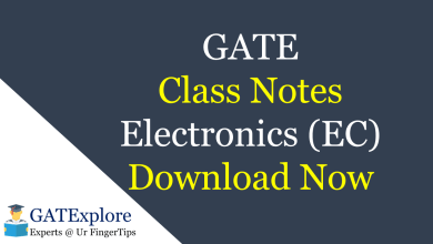 Photo of GATE Class Notes – EC Engineering