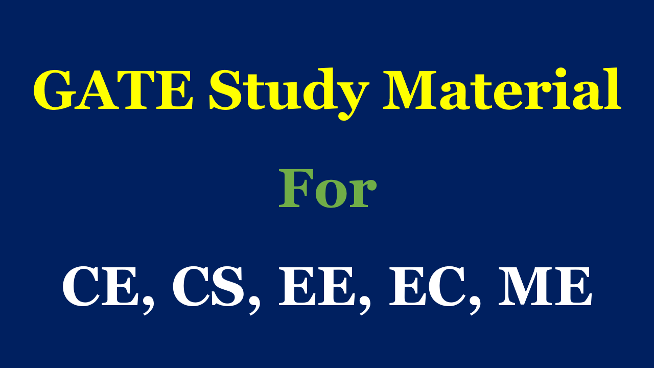 Pdf material for gate study cse