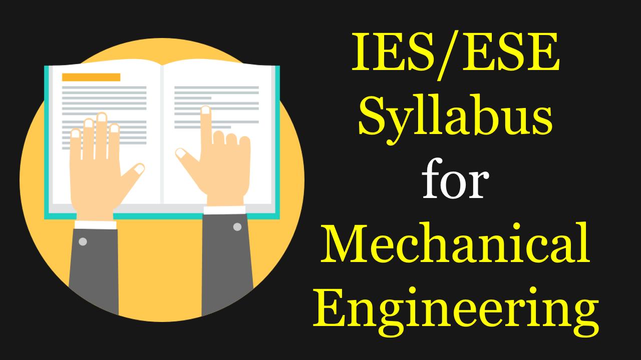 Ies Syllabus Mechanical Pdf