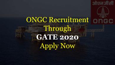 Photo of ONGC Recruitment Through GATE 2020