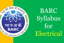 Photo of BARC Syllabus for Electrical 2020