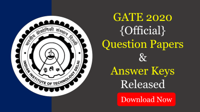 Photo of GATE 2020 Question Papers and Answer Keys Released
