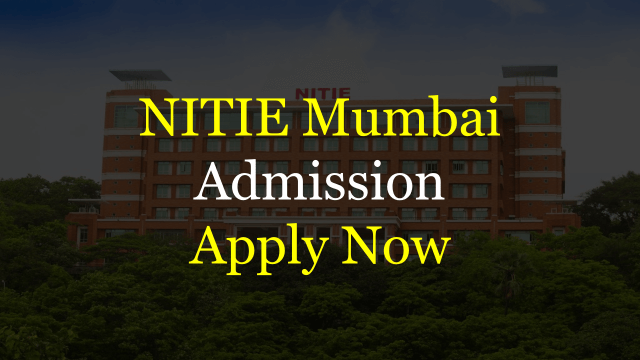 NITIE Admission 2019