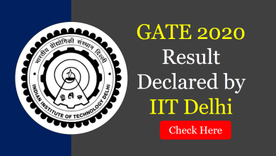 Photo of GATE 2020 Result Declared