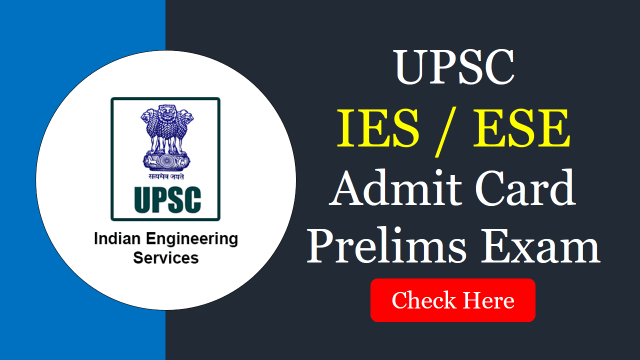 IES 2020 Admit Card