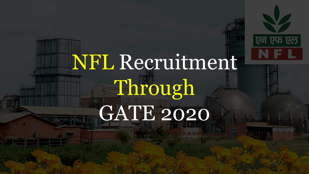 NFL Recruitment Through GATE 2020