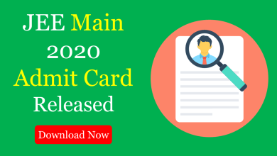 Photo of JEE Main Admit Card 2020 Released