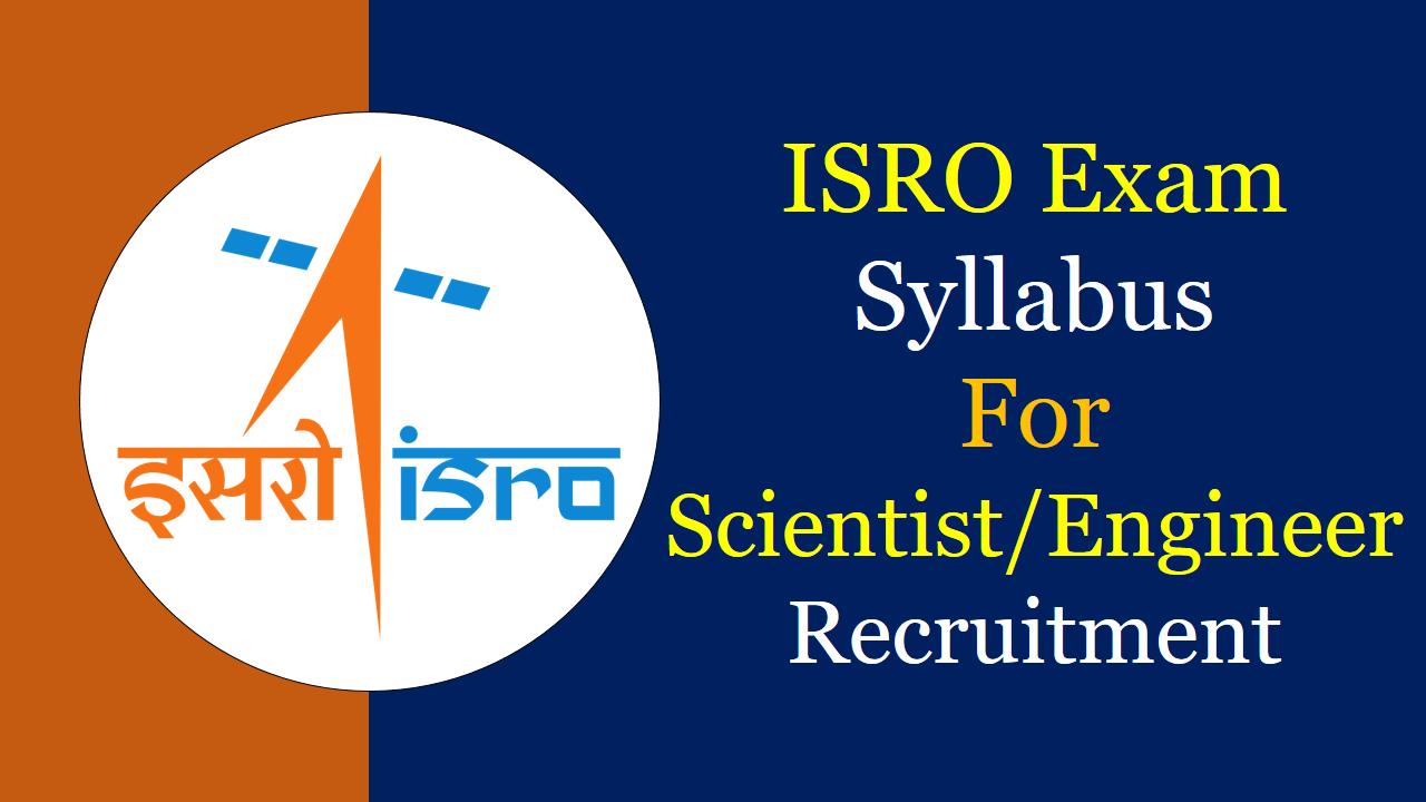 ISRO Syllabus 2019