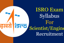 Photo of ISRO Syllabus 2019-20 for Scientist Engineers