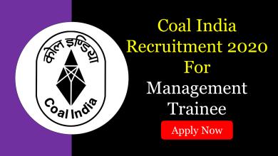 Photo of Coal India Recruitment 2020